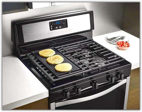 Gas Stove With Griddle 4 Burner