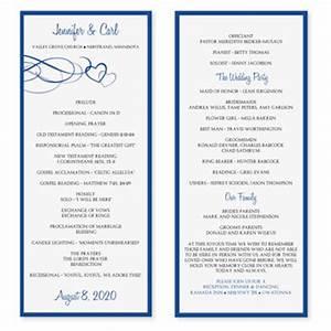 wedding program template word cyberuse With free wedding brochure templates download