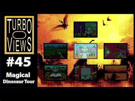 """magical Dinosaur Tour""  Turbo Views #45 (turbografx16"