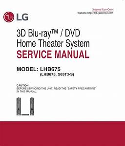 Lg Lhb675 Home Theater System Original Service Manual And