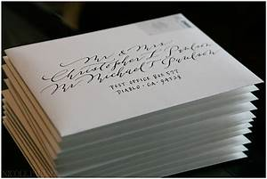 Our wedding envelope calligraphy nicole paulson photography for Wedding invite envelope calligraphy