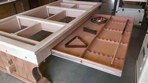 Custom pool table build by Tim McClellan Decorative