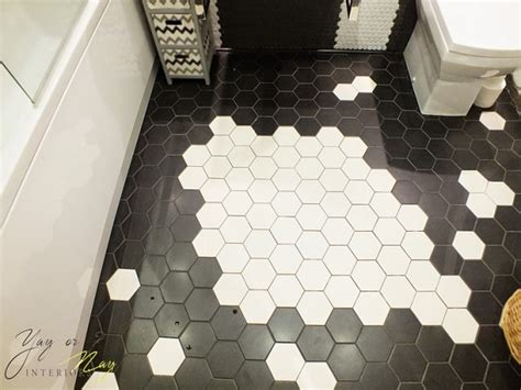 Hexagonal Tiles For Bathroom Floor by Black And White Bathroom Floor Tile Hexagonal Design