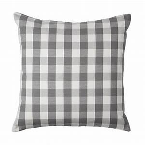 IKEA SMANATE CUSHION COVER Pillow Sham GRAY White