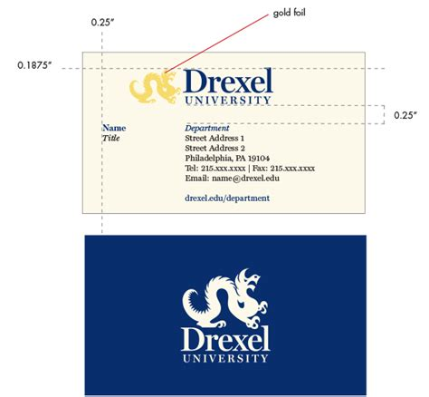 administrative stationery identity drexel university