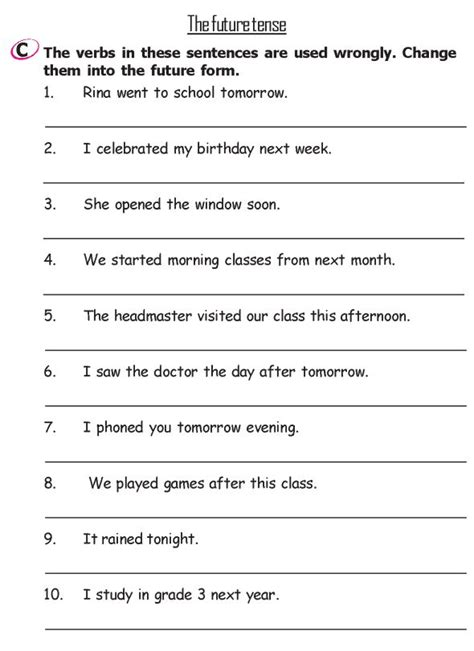 grade 2 grammar lesson 13 verbs the past tense 3