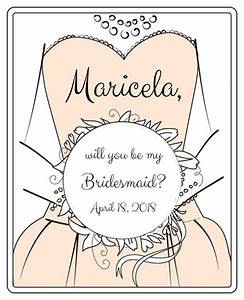 Quotwill you be my bridesmaidquot wine bottle labels label for Will you be my bridesmaid wine label template