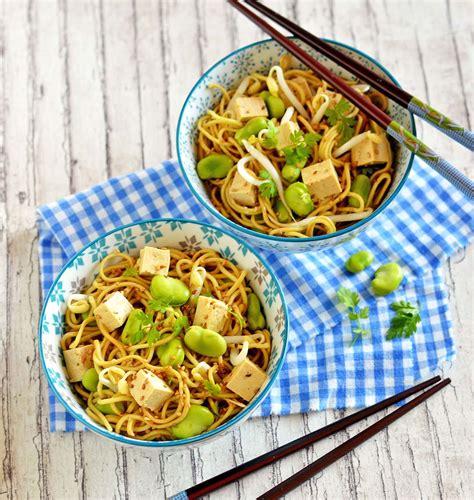 recettes de cuisine asiatique salade de nouilles asiatiques aux fèves les meilleures
