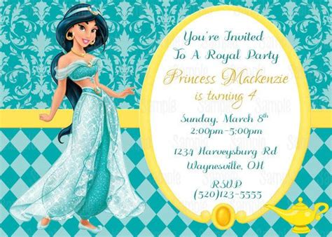 printable princess jasmine aladdin birthday party