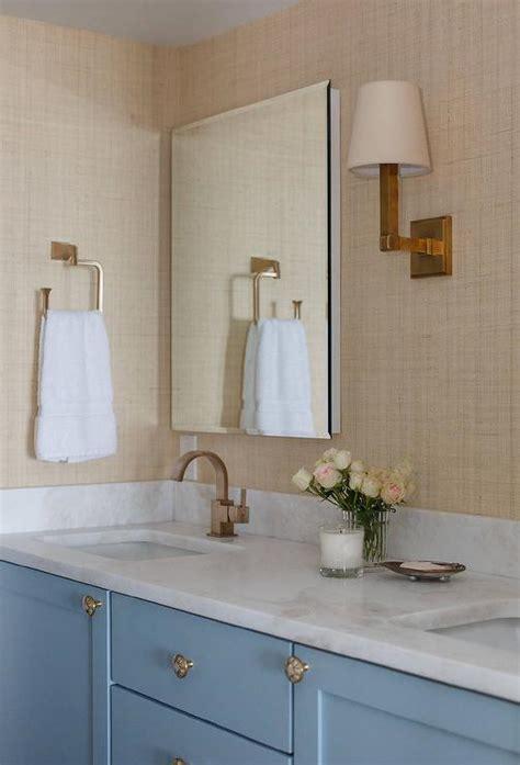 navy bathroom vanity  industrial rivet medicine