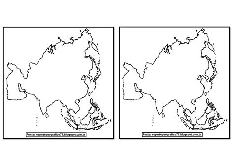 Suporte Geográfico: ÁSIA MAPAS PARA COLORIR