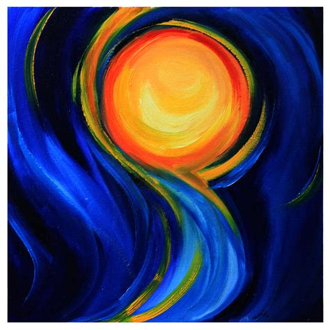 The Abstract Sun Painting by Mrunal Limaye