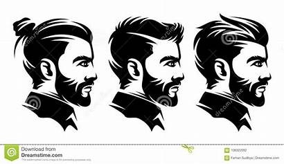 Hairstyle Illustrations Vector Illustration Side Barbershop Haircut