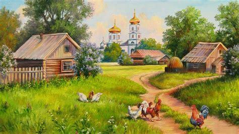 Village Painting Hd Wallpaper