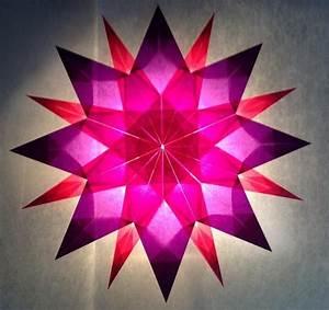 Papiersterne Basteln Anleitung : rosa lila stern 16 zacken sterne aus transparentpapier ~ Lizthompson.info Haus und Dekorationen