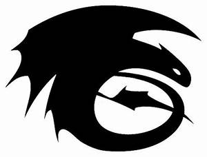 Toothless silhouette - I want this as a tattoo :3 ...