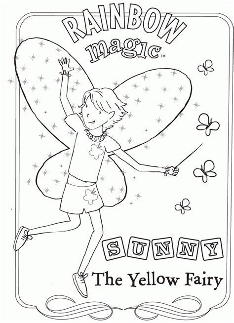 Rainbow Magic Coloring Pages Coloring Home