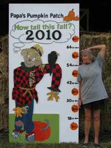 Papas Pumpkin Patch Hours by How Tall This Fall Papa S Pumpkin Patch