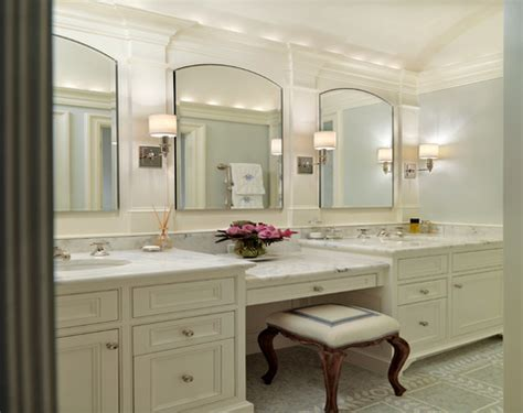 master bathroom vanity with makeup area custom made mirrors for bathrooms porcelain tile that