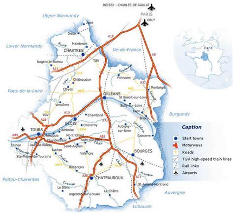 Carte Des Autoroutes Du Centre De La cartograf fr les r 233 gions de le centre