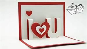 Pop Up Karte Basteln Geburtstag : pop up karte basteln i love you bastelidee zum valentinstag youtube ~ Frokenaadalensverden.com Haus und Dekorationen