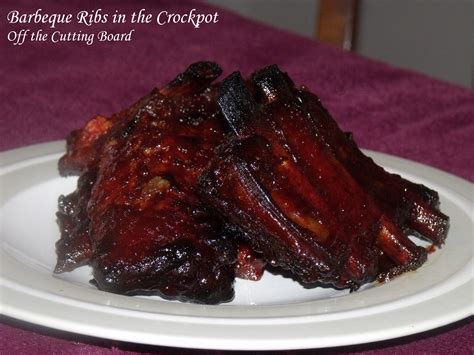Barbeque Ribs In The Crockpot  Off The Cutting Board
