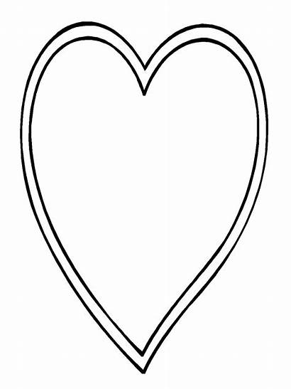 Heart Shape Coloring Pages Printable Getcoloringpages Outline