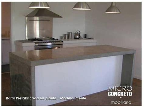 barra cocina en microcemento cemento alisado hormigon
