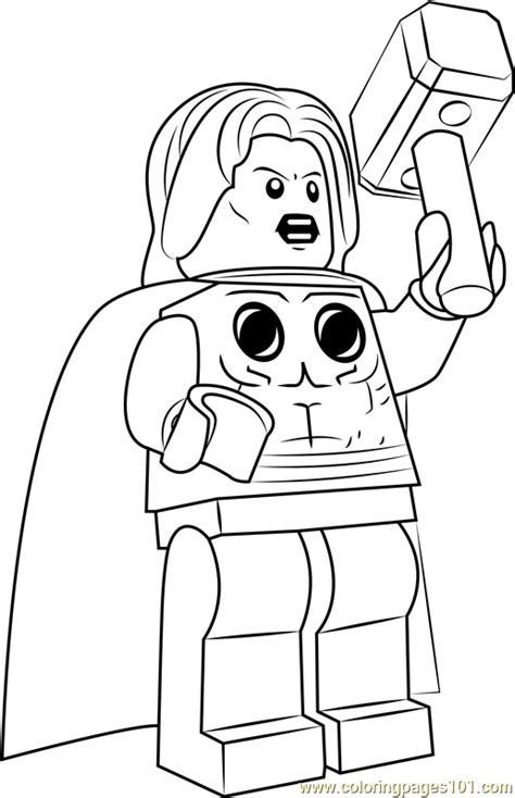 lego thor coloring page  lego coloring pages coloringpagescom