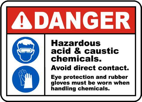 Danger Hazardous Acid & Caustic Sign G4870
