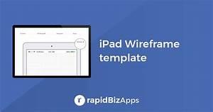 iPad Wireframe Template Download - rapidBizApps