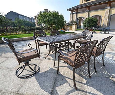 domi outdoor living rainier cast aluminum outdoor patio