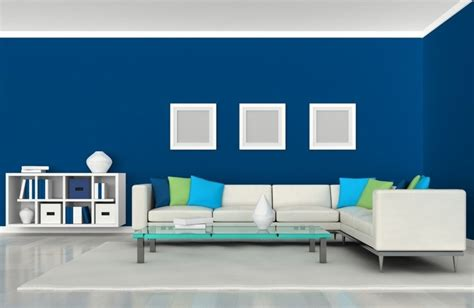 wall painting designs in blue colour living room simple living room design with modern Simple