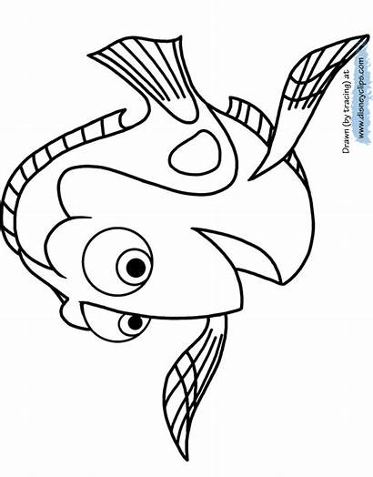 Dory Coloring Pages Finding Printable Template Sheet