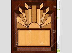 Art Deco Inlay Wooden Frame Stock Illustration