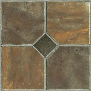 vinyl floor tiles  adhesive peel  stick slate bath kitchen flooring  ebay