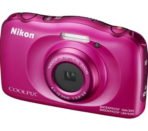 buy nikon coolpix  tough compact camera pink