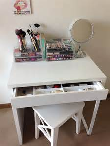 Ikea Micke Desk Hack by 25 Best Ideas About Ikea Makeup Vanity On Pinterest