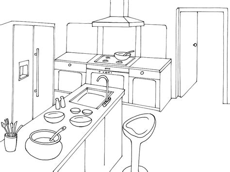 dessin d une cuisine 79 dessins de coloriage cuisine à imprimer sur laguerche