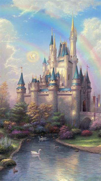 Castle Fantasy Disney Princess Iphone Castles Mobile