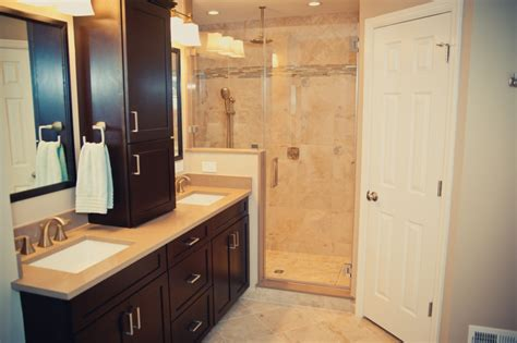 Master Bathroom Remodel With Redesign And Hall Bathroom
