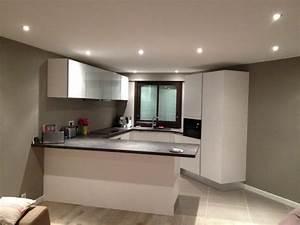 decoration ba13 cuisine With carrelage adhesif salle de bain avec éclairage vitrine led ikea