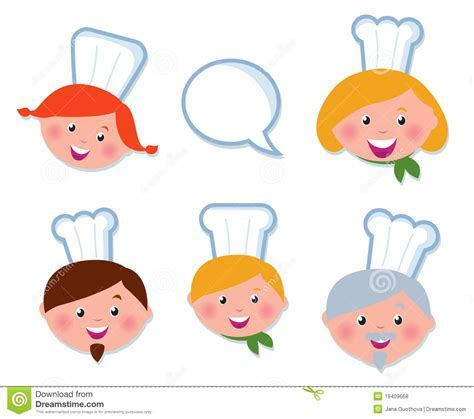 Cute Cooking And Icons Set   Chef Family Royalty Free