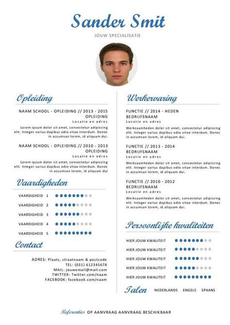 Pro Cv by Klassiek Pro Curriculum Vitae Blauw Moderne Cv Templates