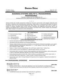resume for a business analyst sle of cv business analyst
