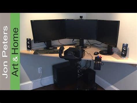 build  corner desk   flight simulator youtube