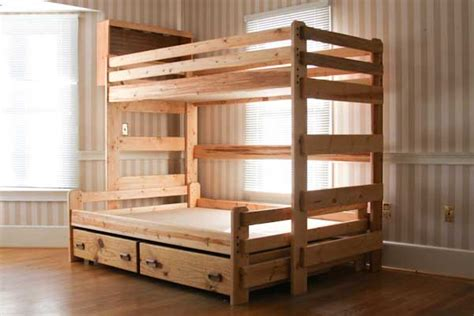 bunk bed plans twin  full bed plans diy blueprints
