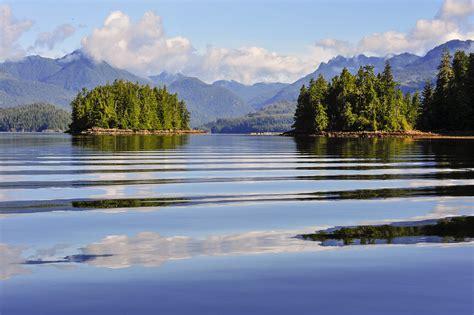 canada, Scenery, Lake, Island, Mountains, Ucluelet, Nature ...