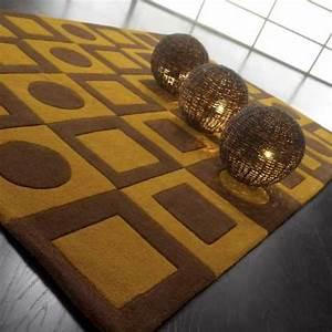 tapis haut de gamme chocolat eclipse par ligne pure 250 x With tapis jaune avec canapé haute gamme