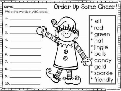 Abc Order Alphabetical Worksheets Homework Christmas Printable